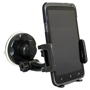 Xenda Universal Windshield Car Mount Cell Phone Holder Window Suction Cup Dock for HTC Droid DNA - HTC EVO 4G LTE - HTC Rezound - HTC Evo 4G from Xenda