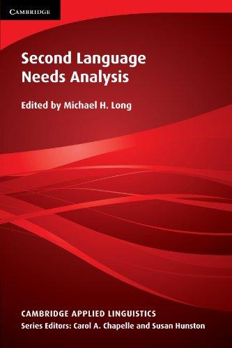 Second Language Needs Analysis (Cambridge Applied Linguistics)