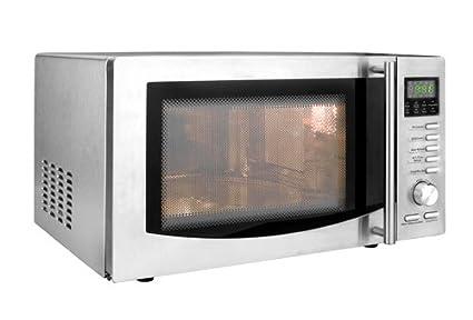 Four à micro-ondes combiné grill - 23 L - 1 000 W - inox