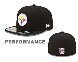 Pittsburgh Steelers On-Field 59Fifty Black Fitted Sideline Hat by New Era