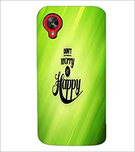 PrintDhaba Quote D-2682 Back Case Cover for LG GOOGLE NEXUS 5 (Multi-Coloured)