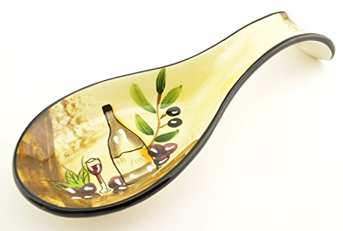 Dlusso Tuscany Wine Cellar Ceramic Spoon Rest (Italian Spoon Rest compare prices)