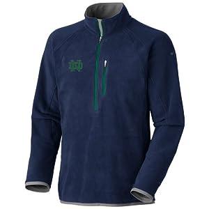 NCAA Columbia Notre Dame Fighting Irish Heat 360 Half Zip Pullover Jacket - Navy Blue... by Columbia