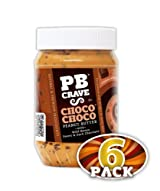 PB Crave Natural Peanut Butter, Choco Choco, 16oz Jars, (Pack of 6)