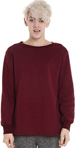 pizoff-unisex-hip-hop-urban-basic-long-t-shirts-a-manches-longues-sweater-y1195-wine-s