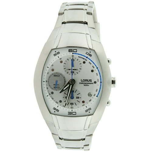 Lorus Mens Chronograph Stainless Steel Watch with Date