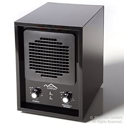 6 Stage Black Acrylic BA3500 New Comfort Ozone Air Purifier Cleaner Hepa UV Covers 3500 feet