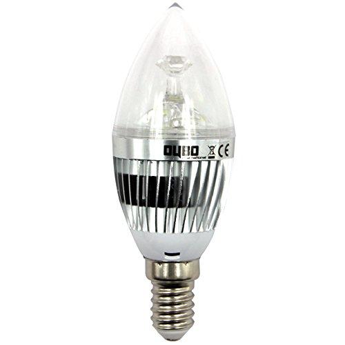 OUBO E14 E27 GU10 MR16 3W 4W 5W 7W LED Lampe Bulb Strahler Spot Kerze Leuchtmittel Glühbirne Birne Warmweiß Kaltweiß Top-Qualität (3W E14 Scharf Kaltweiß Silber)