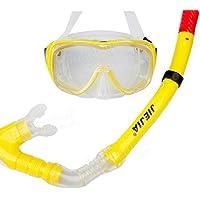 Jiejia M4302S Professional Scuba Diving Mask Silica Gel Snorkeling Goggles Set