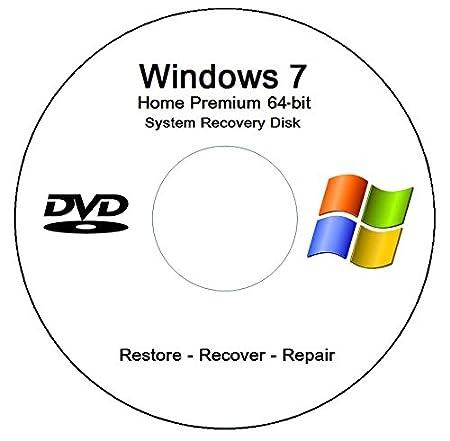Windows 7 Home Premium 64-bit Recovery - Restore Media