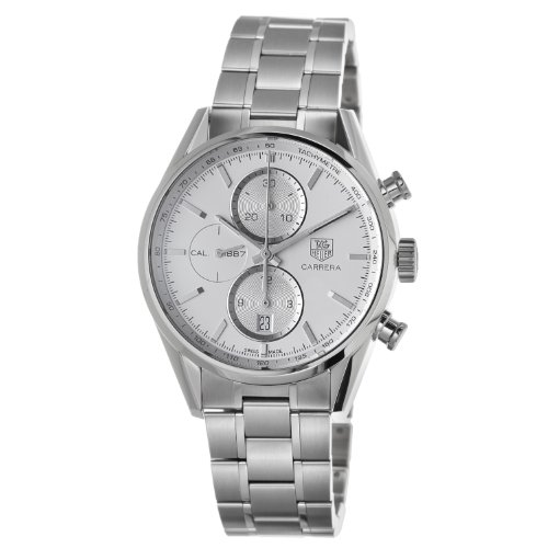 TAG Heuer Men's CAR2111.BA0720 Carrera Silver