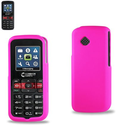 Reiko Rpc10-Lglg102Hpk Slim And Durable Rubberized Protective Case For Lg Vm-101/Lg102 - Retail Packaging - Hot Pink