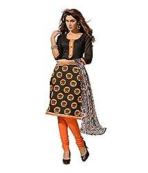 Fabdeal Women Chanderi Cotton Printed Salwar Kameez