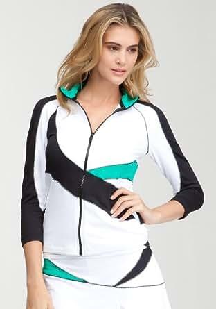 Amazon.com: bebe Green Tennis Colorblock Jacket -Bebe Sport Bebesport