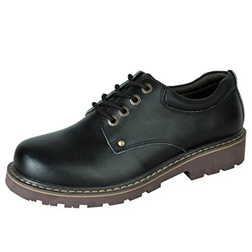 walk-leader-zapatos-de-cordones-de-piel-vuelta-para-hombre-color-negro-talla-42
