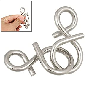 Como 8 Shaped Twisty Wire Metal Brain Teaser IQ Puzzles Toy
