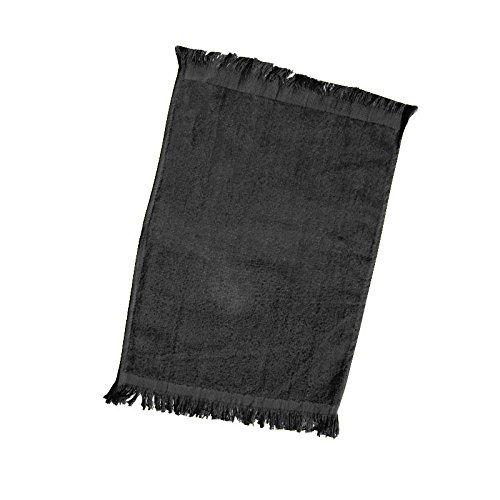 (12 Pack) Set Of 12- Promotional Priced Fingertip Towels (Black)