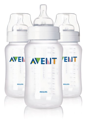 Philips AVENT Natural Feeding Bottle, 11 Ounce, 3 Pack