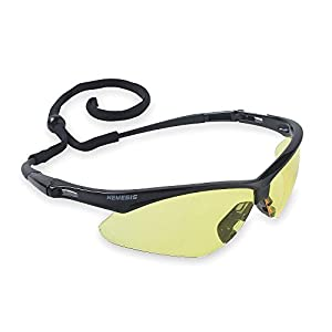 Safety Glasses, Amber, Scratch-Resistant