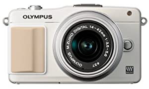 Olympus E-PM2 Interchangeable Lens Digital Camera with 14-42mm Lens (White) (Old Model)