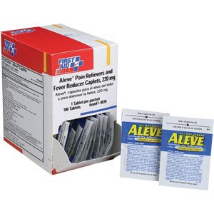 Aleve® Pain Reliever and Fever Reducer Caplets (50 Packs of 2 Tablets)Aleve® Pain Reliever and Fever Reducer Caplets (50 Packs of 2 Tablets)