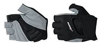 Avenir Comfy Gel Cycling Gloves (Black/Grey, Large)