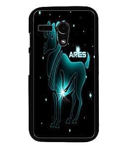 PrintDhaba Zodiac Aries D-4552 Back Case Cover for MOTOROLA MOTO G (Multi-Coloured)