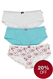 3 Pack Angel Cotton Rich Assorted Shorts
