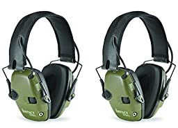 Howard Leight by Honeywell R-01526-PK2 2-Pack Impact Sport Sound Amplification Electronic Earmuff, Classic Green (R-01526-PK2), , Classic Green
