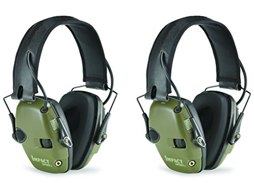 Honeywell R-01526-PK2 Howard Leight Electronic Earmuff,   2-Pack , Classic Green (Honeywell Ear Muffs compare prices)