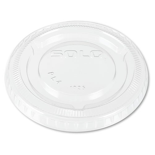 Solo PL4 clear Plastic No-slot Lid for 3.25 & 4 Ounce Cups (SCCPL4) Category: Portion and Souffle Cups and Lids