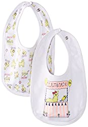 Pumpkin Patch Baby Girls' 2 Pack Bibs,Bright White,One Size