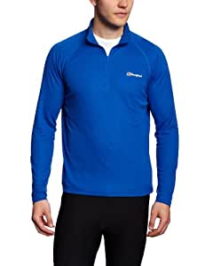 Berghaus Men's Essential Long Sleeve Zip Baselayer - Extreme Blue, Small