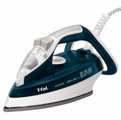 T-fal FV4476 Ultraglide Easycord Auto Shut Off Steam Iron with Ceramic Scratch Resistant Non-Stick Soleplate Anti-Drip and Scale System, 1700-Watt, Blue