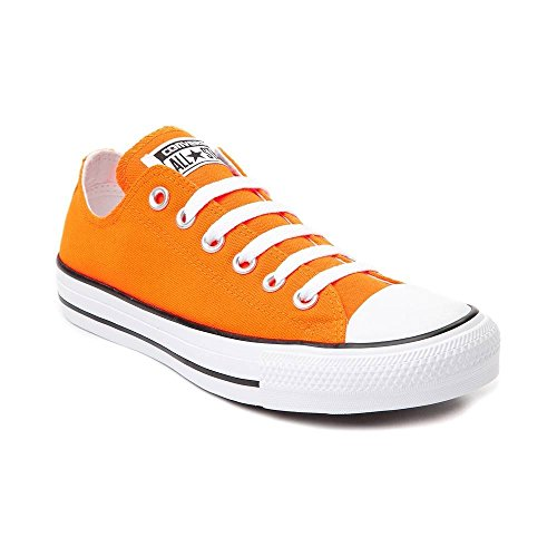 Converse Chuck Taylor All Star Lo Sneaker (Mens 5/Womens 7, Neon Orange )
