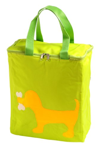 Petego United Pets Huggy Bag Italian-Designed Pet Accessory Carry Bag, Green with Dog, 12 Inches by 12 Inches by 6 Inches - 1