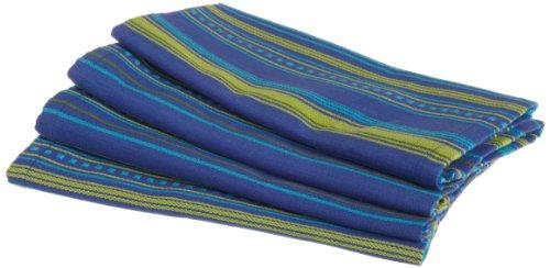 DII Hacienda Bonita Azul Woven Stripe Cloth Napkin, Set of 4