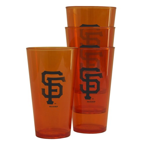 Mlb San Francisco Giants 16-Ounce Colored Plastic Pints (4 Pack) front-481274