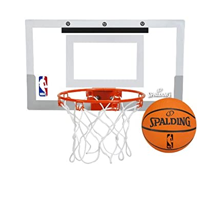 Spalding NBA Slam Jam Over-The-Door Mini Basketball Hoop by Spalding