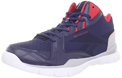 Reebok Men's Sublite Pro VIP One Basketball Shoe,Blue/Grey/Red/White,8 M US