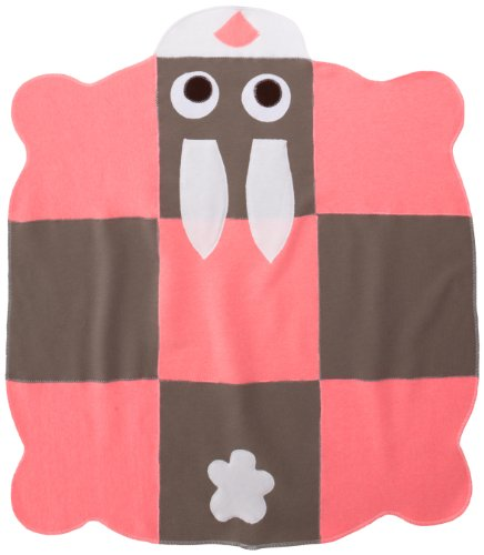 Cate & Levi Bunny Baby Blanket, Pink/Brown