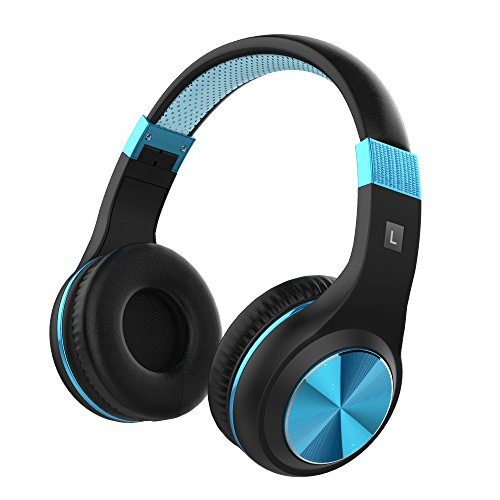 Vomach On Ear Headphones with Mic Kids Headphones for School Lightweight Wired Computer Headphones Blue