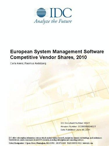 European System Management Software Competitive Vendor Shares, 2010 Carla Arend and Rasmus Andsbjerg