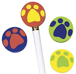 Paw Pencil Top Eraser, Package of 108