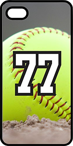 iPhone 6s 6 Case Softball Dirt Mound Any Custom Jersey Number 77 Black Plastic (Iphone 6 Softball Cases Number 77 compare prices)