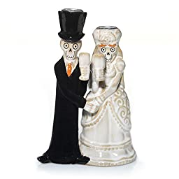 Bride And Groom Halloween Taper Candle Holder - Yankee Candle