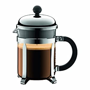 Bodum Chambord 4 cup French Press Coffee Maker, 17 oz, Chrome from Bodum