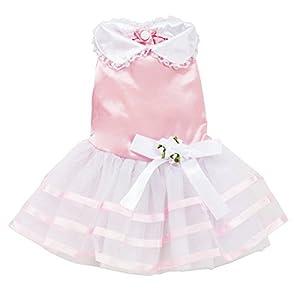 Cute Pet Dog Puppy Dress Lace Skirt Cat Princess Apparel (M, Pink) by MZDMAX