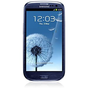 Samsung Galaxy S III i9300 Smartphone 16 GB (12,2 cm (4,8 Zoll) HD Super-AMOLED-Touchscreen, 8 Megapixel Kamera, Micro-SIM, Android 4.0) pebble-blue