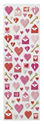 Martha Stewart Crafts Key And Heart Foam Icon Stickers